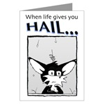 Hail greeting cards